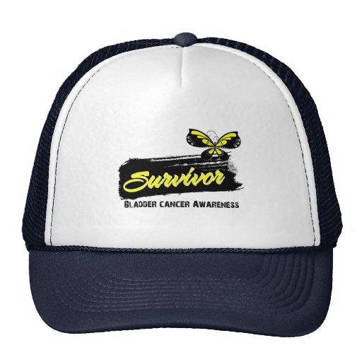 Tattoo Butterfly Bladder Cancer Survivor Trucker Hats