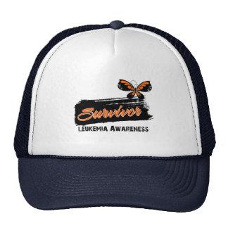 Tattoo Butterfly Leukemia Survivor Trucker Hats