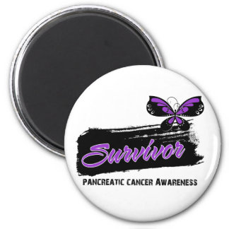 Tattoo Butterfly Pancreatic Cancer Survivor 6 Cm Round Magnet