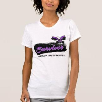 Tattoo Butterfly Pancreatic Cancer Survivor Tee Shirt