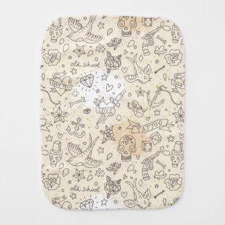 Tattoo concept pattern burp cloth