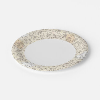 Tattoo concept pattern paper plate