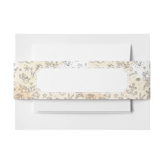Tattoo concept pattern invitation belly band