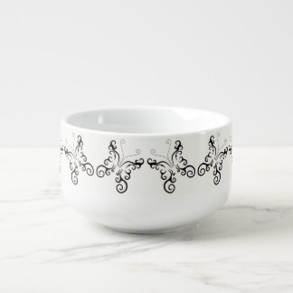 TATTOO DESIGN BUTTERFLY PATTERN 1 SOUP MUG