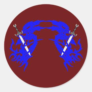 Tattoo Dolche dagger Runde Sticker