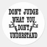 Tattoo Don't Judge What You Don't Understand Round Sticker