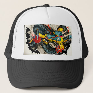 Tattoo Dragon Trucker Hat