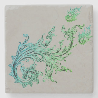 TATTOO FLORAL LIKE DESIGN FOR STONE COASTER