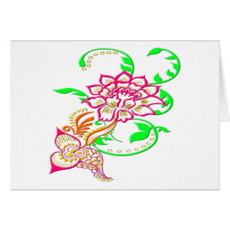 Tattoo Flower Greeting Card