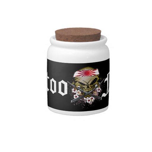 Tattoo Fund Samurai Skull Candy Jar