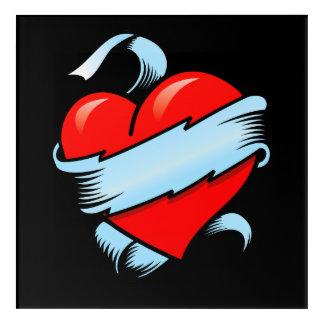 Tattoo Heart Acrylic Wall Art