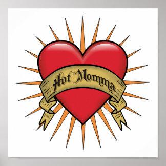 Tattoo Heart Hot Momma Poster