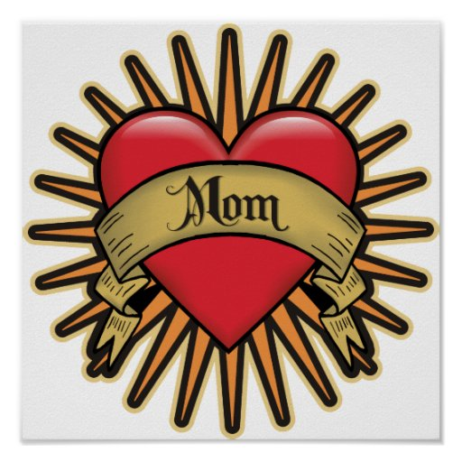 Tattoo Heart Mom Posters