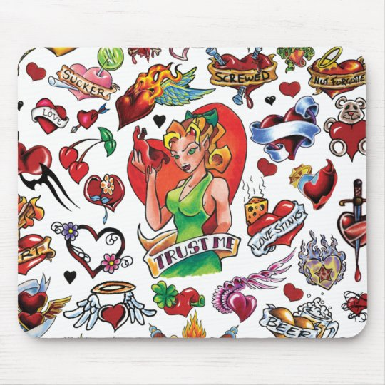 Tattoo Heart Mousepad