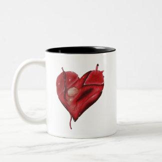 Tattoo Heart On Mug With Black Interior