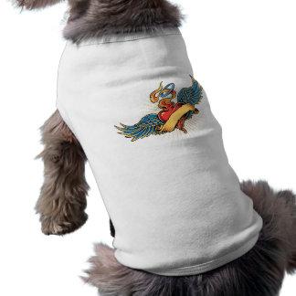 tattoo heart wings dog shirt
