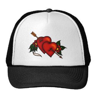 Tattoo Hearts with Arrow Cap