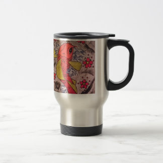 Tattoo Inspired Koi Fish Travel Mug