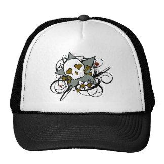 Tattoo Inspired Skull Star Trucker Hat