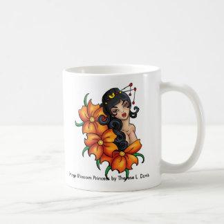 Tattoo Japanese Orange Blossom Princess Basic White Mug