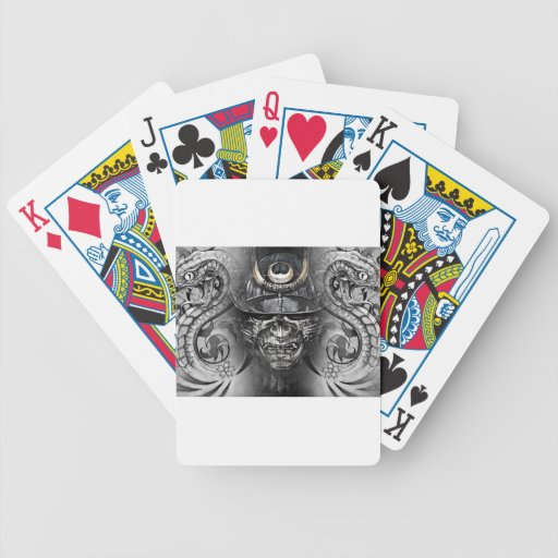 tattoo japanese playing cards