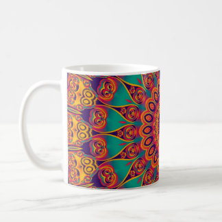 Tattoo Kaleidoscope Fractal Coffee Mug