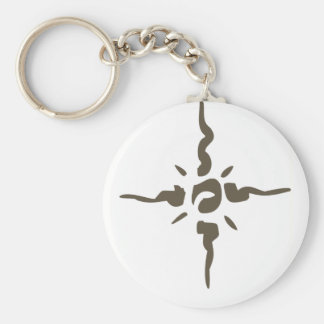 Tattoo Basic Round Button Key Ring