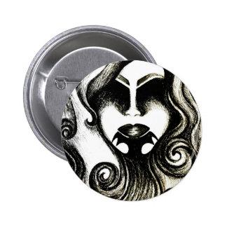 Tattoo lady black and white gothic badge