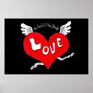 Tattoo Love Heart Poster