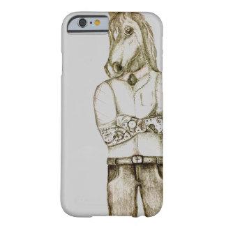 Tattoo man with horses head phone case