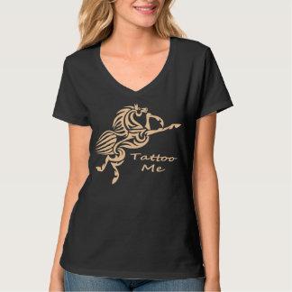 Tattoo Me cream Mystical Horse Shirt
