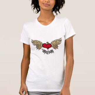 Tattoo Mom Crowned Heart with Wings Shirts