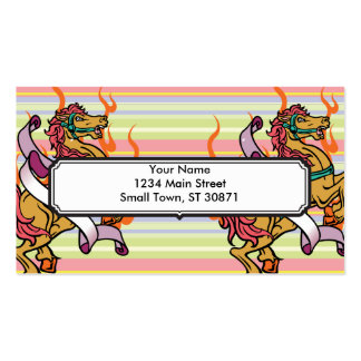 tattoo of Crazy Horse on orange flames Double-Sided Standard Business Cards (Pack Of 100)