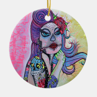 Tattoo Pin Up Girl Christmas Ornament