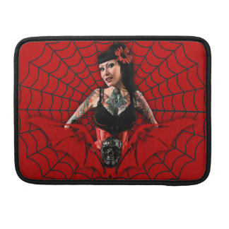 Tattoo Pin Up Sleeve For MacBook Pro
