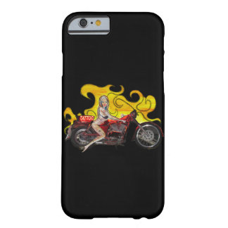 Tattoo pinup girl on a motorcycle barely there iPhone 6 case