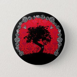 Tattoo Rose Bonsai Tree of Love Swallow 6 Cm Round Badge