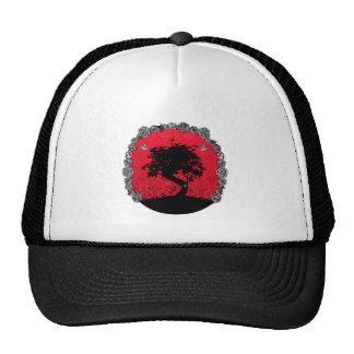 Tattoo Rose Bonsai Tree of Love Swallow Trucker Hat