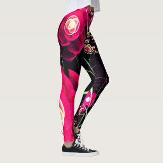 tattoo rose garden leggings