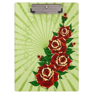 Tattoo Roses Clipboard