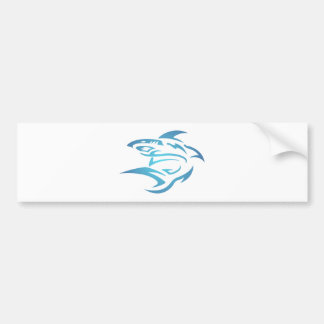 Tattoo shark shark bumper sticker
