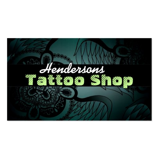 Tattoo shop business cards zazzle for Tattoo business cards templates free