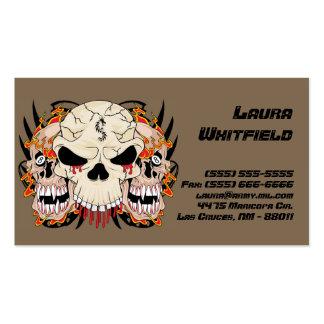 Tattoo Skull Eight Ball Flame Fire Business Card