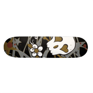 Tattoo Skull Illustrated Skateboard
