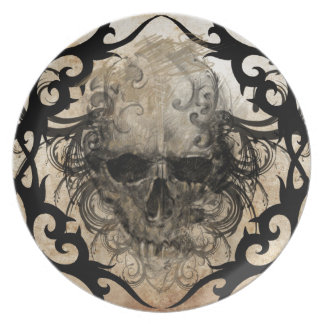 tattoo skull plate