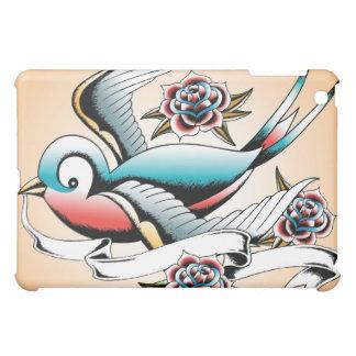 tattoo sparrow rose ipad cover