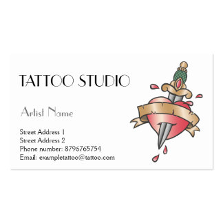 Tattoo studio business card old school design