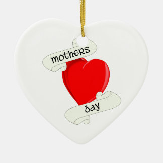 Tattoo Style Mothers Day Ceramic Heart Decoration