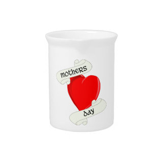 Tattoo Style Mothers Day Drink Pitcher
