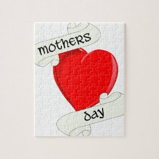 Tattoo Style Mothers Day Jigsaw Puzzle